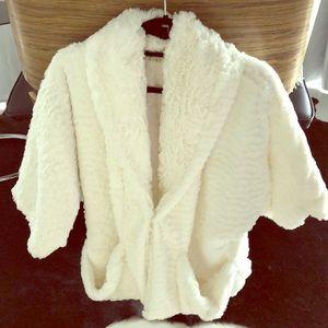 White fluffy super soft jacket
